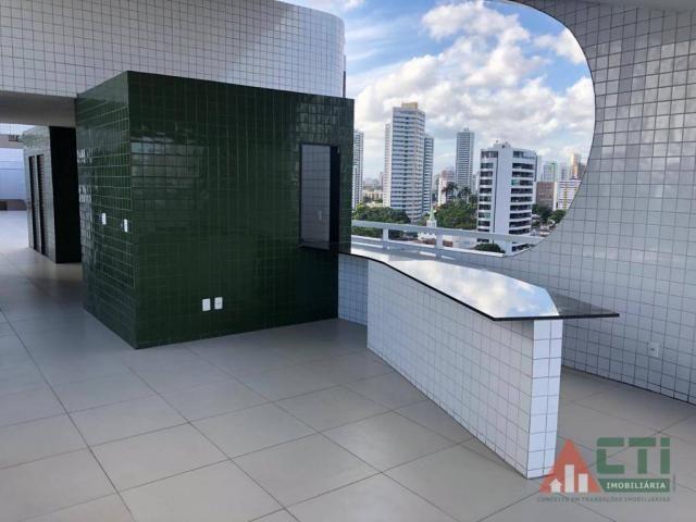 Flat com 1 dormitório para alugar, 40 m² por R$ 2.000,00/mês - Madalena - Recife/PE - Foto 14