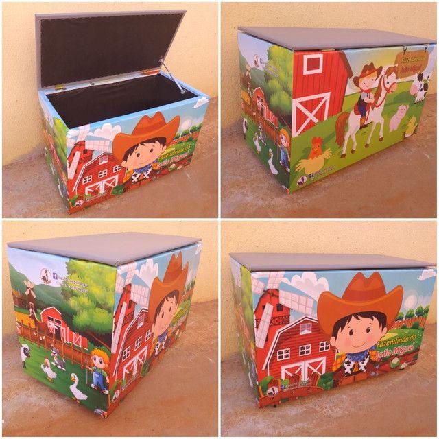 Caixa de brinquedos 40x50x70cm  - Foto 5