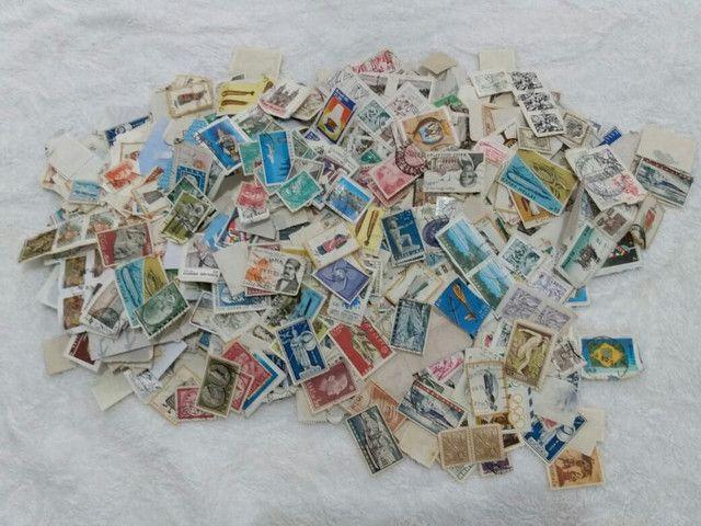 Selos de cartas antigos variados - Foto 3