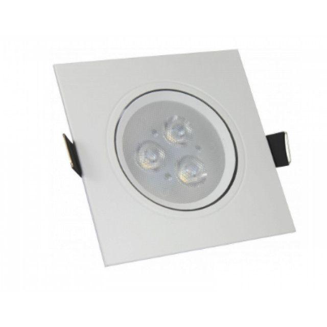 (WhatsApp) luminária spot led direcionável quadrado 3w