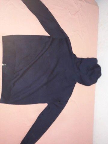 Blusão moletom Blue Steel azul escuro Tamanho P - Foto 2