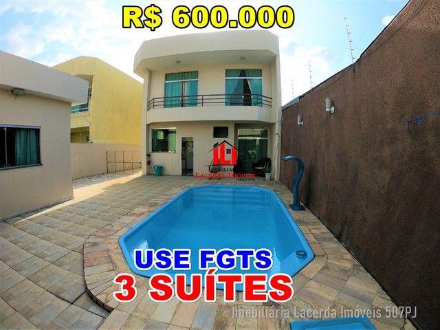 Casa Duplex à venda no Laranjeiras| Com 3 Suites| Piscina | Semi Mobiliada.