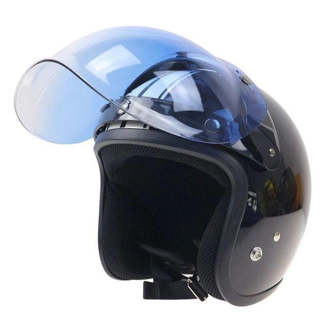 Viseira bubble bolha Azul degradê para capacete com Flip
