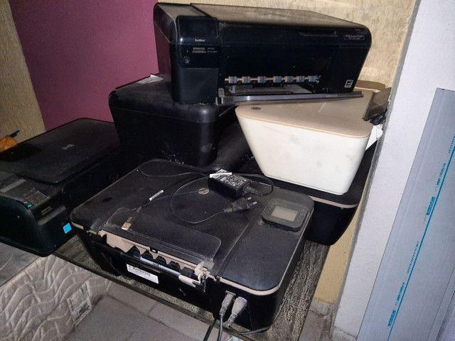 Impressoras 7 unidades para retirada de peças  - Foto 5