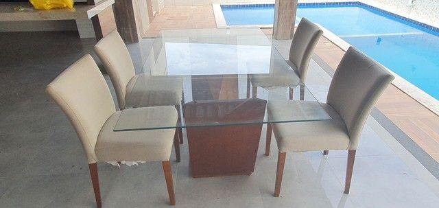 Mesa com 4 poltronas super luxo - Foto 2