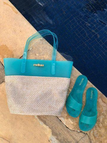 Kit Praia Melissa Bolsa + Chinelo Beach Verão Lançamento 2021