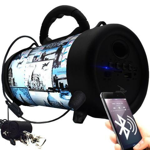 Caixa de Som Portátil Bluetooth D-P8 Grasep Pen Drive Mp3 Radio Fm Amplificada - Foto 3