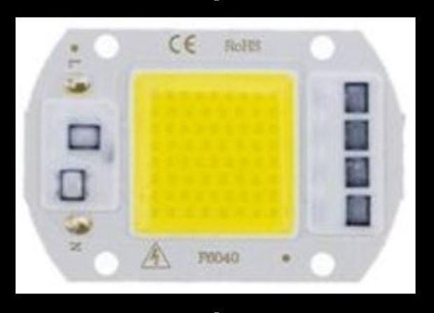 COD-CP286 Super Power Led Cob 50w 220v Ac Branco Frio Arduino Automação Robotica