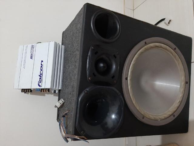 Caixa de som e amplificador - Foto 3
