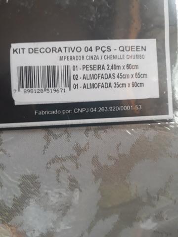 Peseira Decorativa para Cama Queen - Foto 3