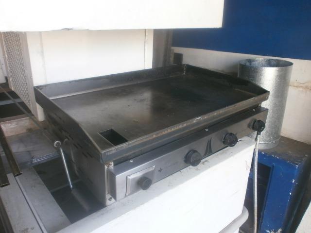 Chapa industrial bifeteira com 3 queimadores - 80 x 50 - marca venâncio - Foto 2