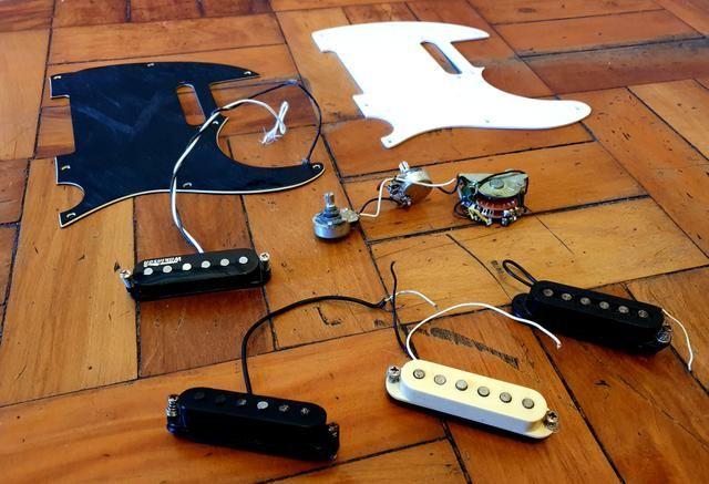 Kit telecaster vintage wilkson+Captadores single coil genéricos - Foto 2