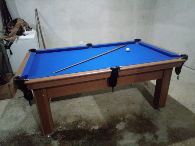 Mesa Tentação Faça o Pedido Cor Cerejeira Tecido Azul Mod. WVIF3544 - Foto 3