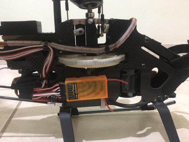 Vento/ Troco T-rex Alzrc 450 Fbl + HK 500 TT Fbl + Radio DX6i - Foto 6