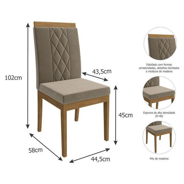 Mesa com 8 Cadeiras com Tampo de Vidro! - Foto 3