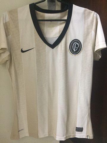 Camisa Corinthians Oficial Centenário TAM. P Feminina - Foto 5