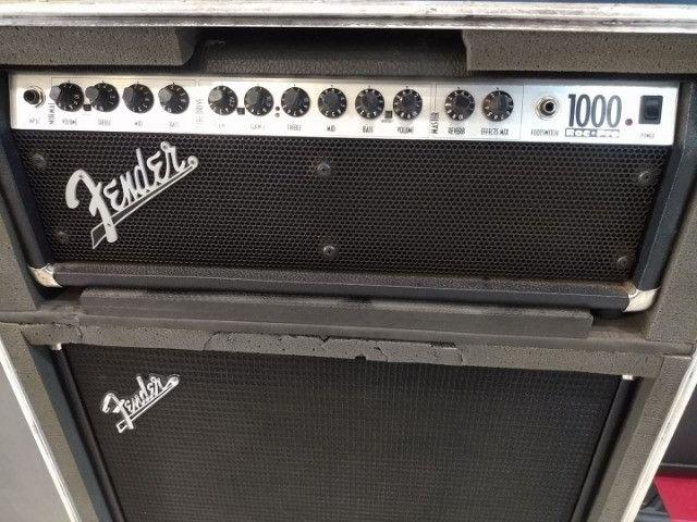 Cabecote Fender Roc-Pro 1000 c caixa Fender p guitarra (Mixer Instrumentos Musicais) - Foto 5