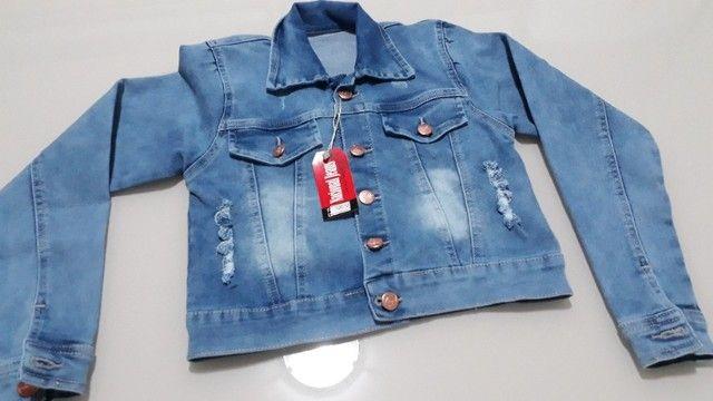 Jaqueta Jeans Infantil Feminina - Foto 5