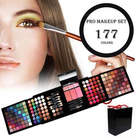 Kit Maquiagem Estojo Mpwell - 177 cores - Foto 3