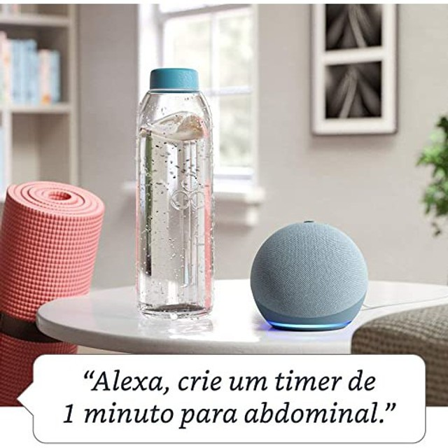 Novo Echo Dot (4ª Geração): Smart Speaker com Alexa - Cor Azul - Foto 3