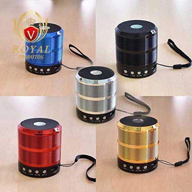 Caixinha Som Ws-887 Bluetooth Portátil Usb Mp3 P2 Sd Rádio Fm - Foto 2