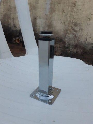 Pé de alumínio ( cromado ) de 15 cm  - Foto 3