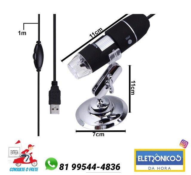 Microscopio Digital Zoom 1000X Reais Usb Camera Profissional só zap
