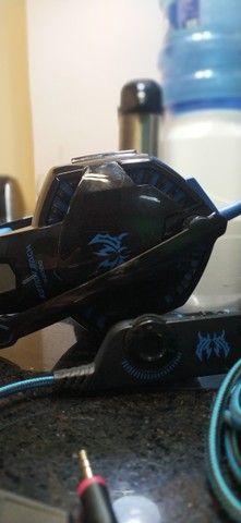 CIC G9000 Fone de ouvido Gamer, Luz LED - Azul - Foto 5