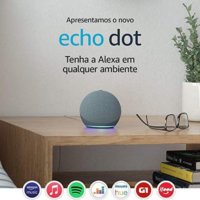 Novo Echo Dot (4ª Geração): Smart Speaker com Alexa - Cor Azul - Foto 2