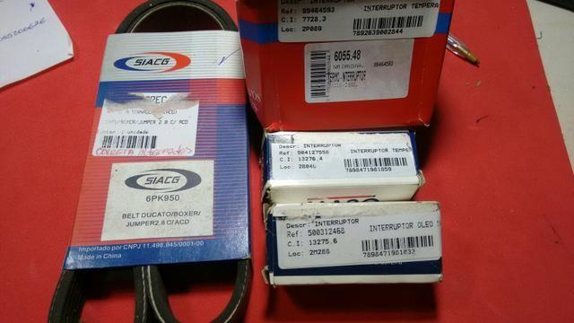 Interruptor de Temp. Interruptor Óleo, Sensor Termico e Correia 6pk950 Van Ducato