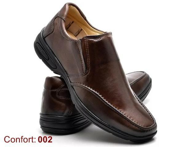 a1411402bb Sapato Social Confort em Couro Animal Legítimo - Atacado - Roupas e ...