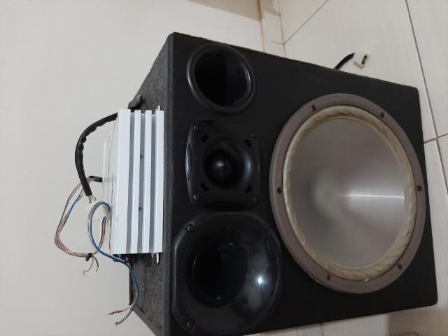 Caixa de som e amplificador - Foto 4
