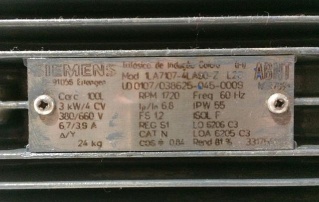 Motor elétrico trifásico Siemens - Foto 2