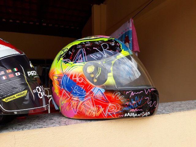 Vendo capacetes personalizados - Foto 3