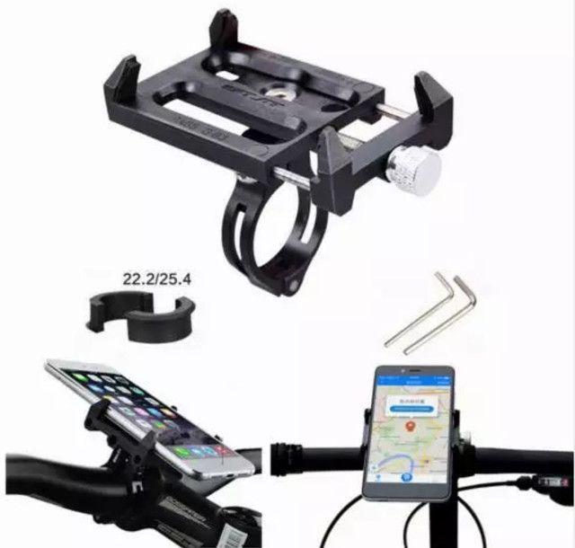 Suporte para smartphone bike moto em alumínio aéreo e ABS ultra resistente