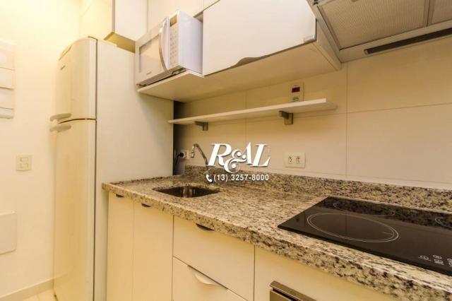 Apartamento com 1 dormitório para alugar, 53 m² por R$ 3.200,00/mês - Ponta da Praia - San - Foto 17