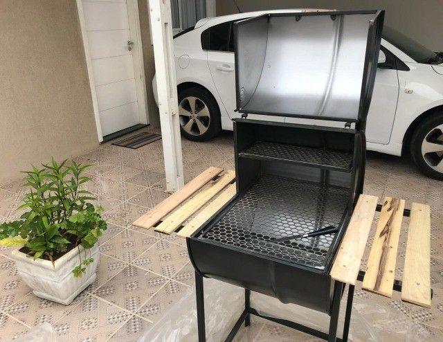 Promo* Churrasqueira Pit Smoker, Novo**