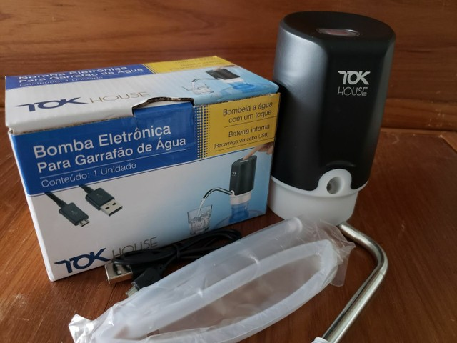 Bomba Elétrica garrafão com Carregamento USB  - Foto 3