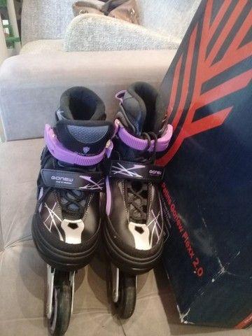 Vendo dois patins gonew Flexx 2.0 são patins profissionais. Valor 150,00 cada - Foto 2
