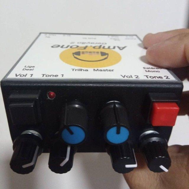 Amplificador de fones Estéreo GERAÇÃO 2 ideal para LIVES E GRAVAÇÕES.  ( Power click ) - Foto 3