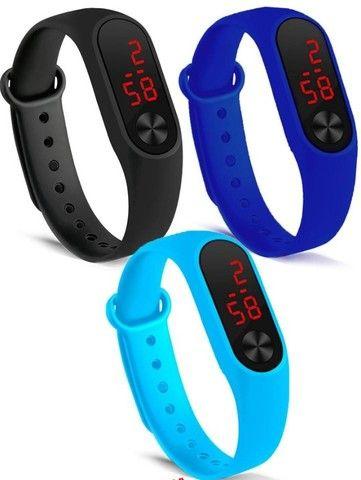 Relógio Led Sport Digital Data Hora e Segundos