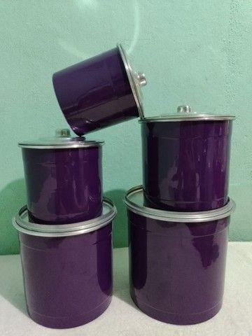 Mantimentos coloridos de alumínio  - Foto 4
