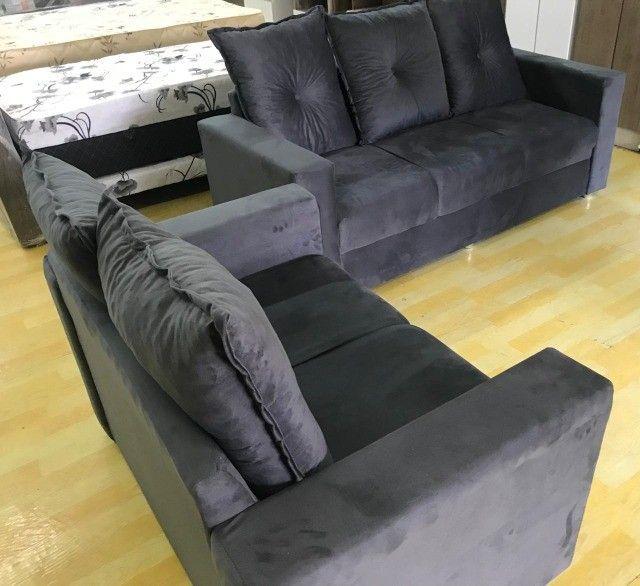 Oferta**Conjunto Sofa Animalle 2 e 3 Lugares, Novo!! - Foto 6