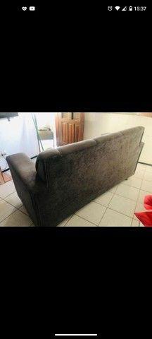 Sofá cinza 3 lugares + 2 poltronas - Foto 3
