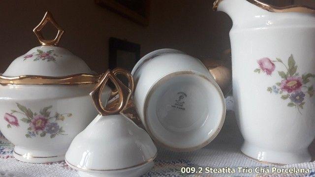 Trio de Porcelana Steatita