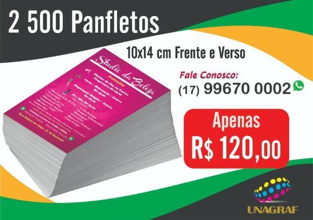 panfletos folhetos flyers outros itens para comércio e