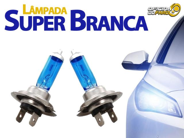 Lâmpada Super Branca 8500K - H1 H3 H4 H7 H8 H11 H16 H27 HB3 HB4