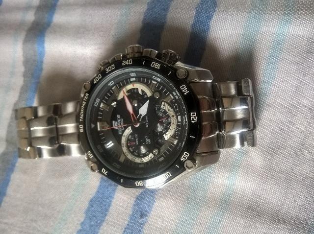 25243444b39 Relógio Masculino Casio Edifice EF-550D Original Em Perfeito Estado De  Conservação