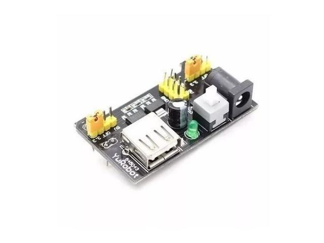 COD-AM20 Fonte De Alimentação 3.3v 5v Mb102 Protoboard Arduino - Pic - Automação - Roboti - Foto 3