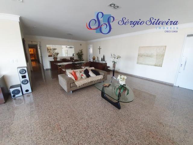 Apartamento na Aldeota com 4 suítes todas com closet, amplo e ventilado, nascente 4 vagas - Foto 3